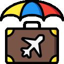 Kufor s dáždnikom