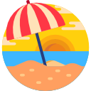 Dáždnik na pláži