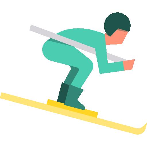 Lyžiar na lyžiach