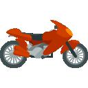Červený motocykel